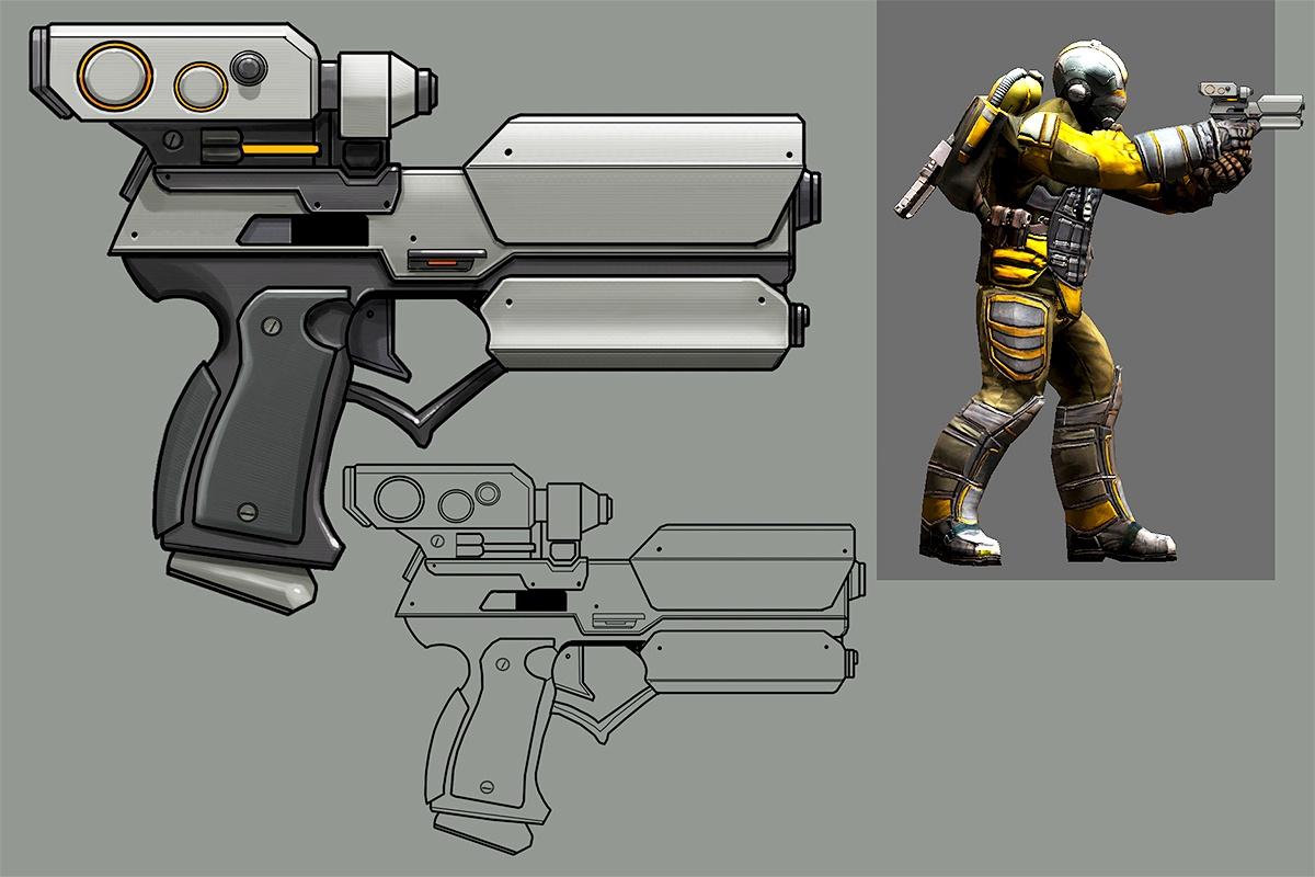 Stormbreaker Pistol Concept Art