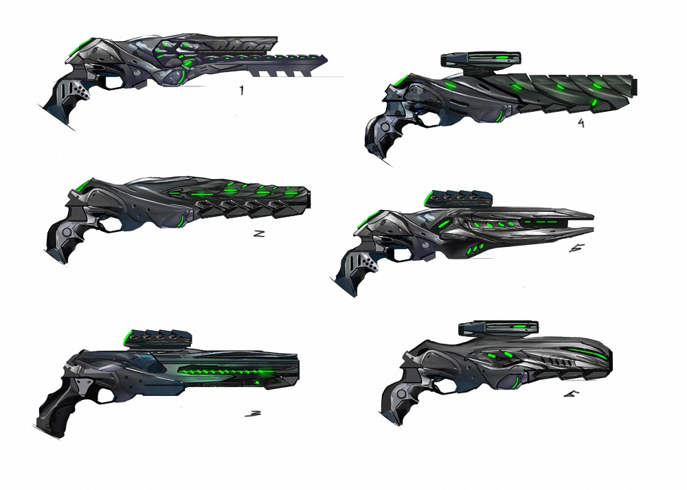 UFO Pistol Concept Art