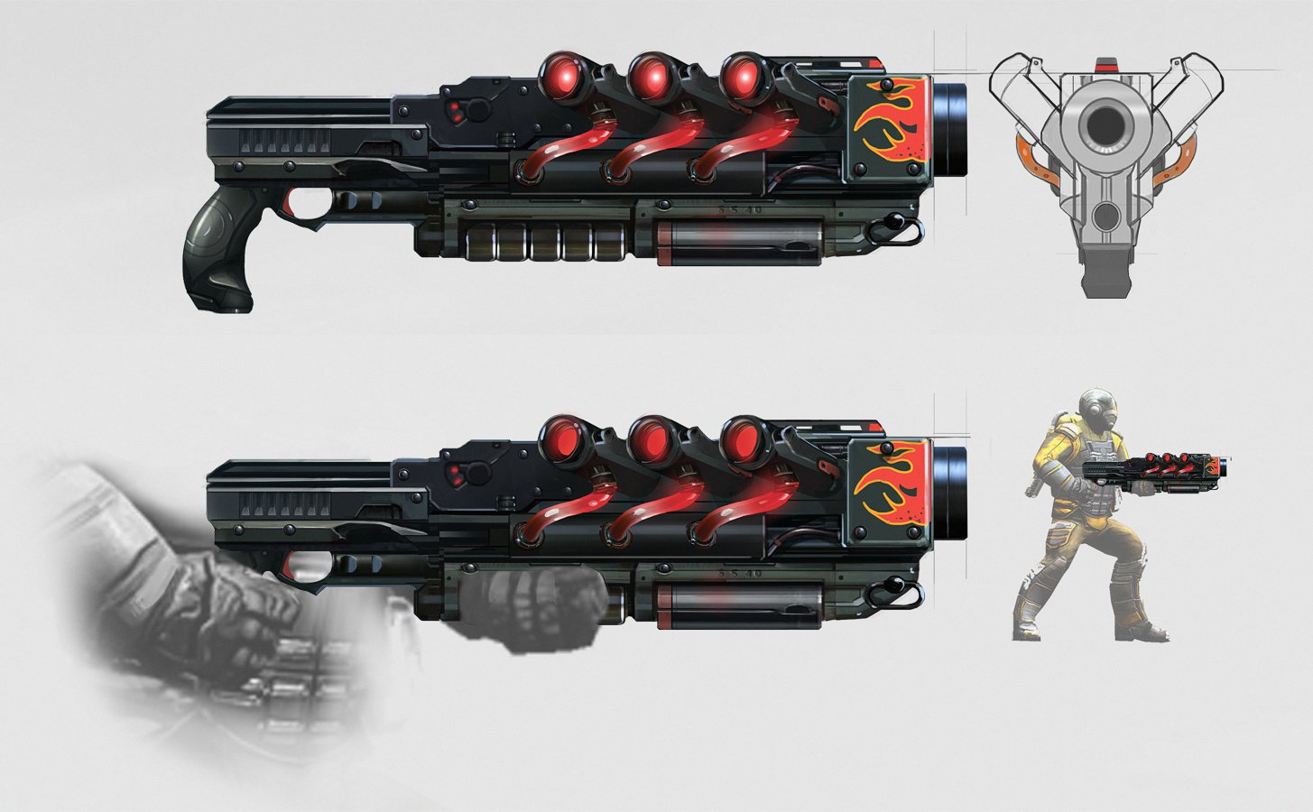 Dragon Shotgun Concept Art